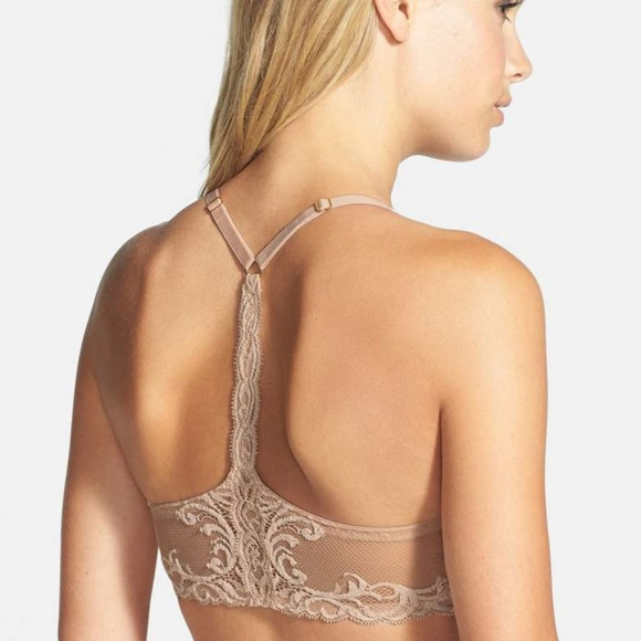 d393bd3736991 NWT Natori Feathers T-Back Underwire Bra Cafe